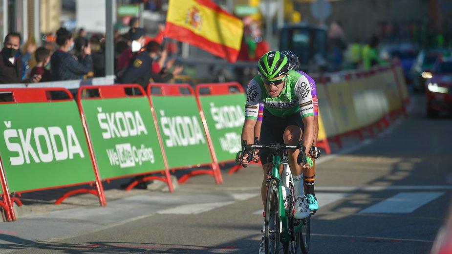 Hector Saez, podczas 9.etapu kolarskiej trasy La Vuelta w Hiszpanii w 2020 roku
