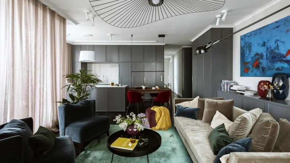Mieszkanie na Mokotowie w Warszawie. Pełne kolorów i światła