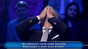 """""""Milionerzy"""". Uczestnik odpadł na pytaniu za tysiąc złotych. Hubert Urbański był załamany"""