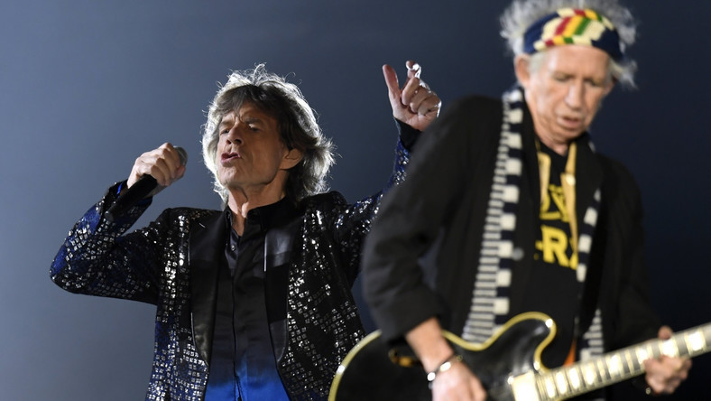 Micka Jagger i Keith Richards podczas koncertu The Rolling Stones w Zurychu, 20.09.2017