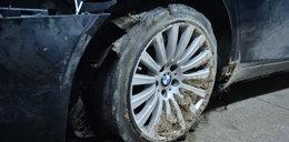 Wypadek prezydenta. Dobre opony założono do innego auta