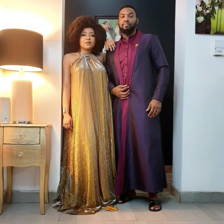 Ihuoma Ejiofor and her hubby, Ibrahim Suleiman came to party with the Osakioduwas  [Instagram/IhuomaEjiofor]