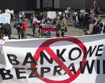"""Stowarzyszenie """"Stop Bankowemu Bezprawiu"""" wielokrotnie organizowało protesty ws. kredytów frankowych"""
