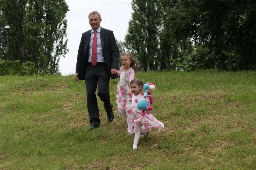 Grzegorz Napieralski, wybory prezydenckie, głosowanie, rodzina, córki, żona