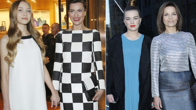 Panie pojawiły się z pociechami na otwarciu pierwszego w Polsce butiku Louis Vuitton