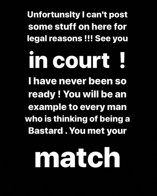 She finally concluded that she would be taking Peruzzi to court for defrauding her. It is not clear if she would be adding the sexual assault claims to the suit. [Instagram/DaffyBlanco]