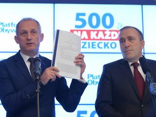 PO składa swój projekt: 500 złotych na każde dziecko