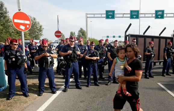 Jedan od prizora sa srpsko-mađarske granice