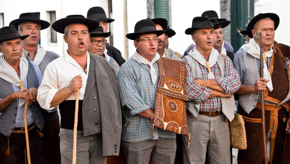 Grupo Coral de Pias - tradycyjny śpiew z Alentejo wpisany na Listę Dziedzictwa Unesco.