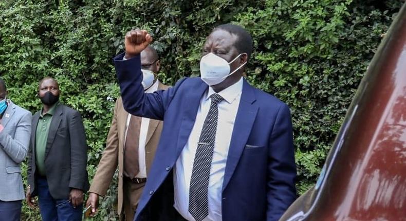 Former Prime Minister Raila Odinga