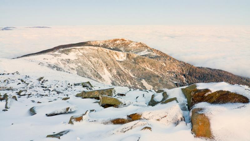 Babia Góra pod śniegiem