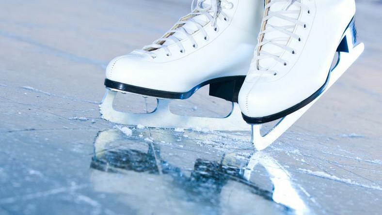 łyżwy lodowisko lód