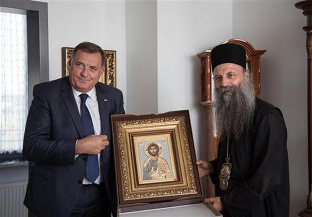Milorad Dodik i mitropolit Porfirije