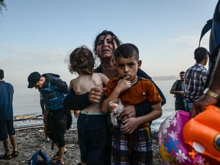 Refugees from Syria arriving at Kos Island