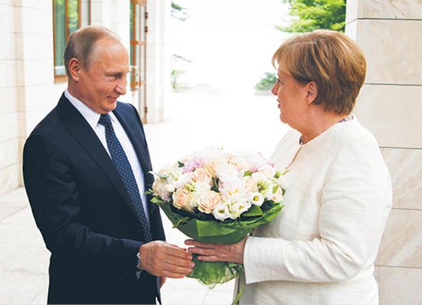 Władimir Putin i Angela Merkel, spotkanie w Soczi