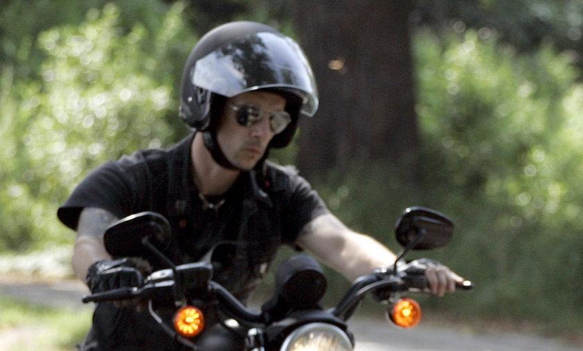 Adam Nergal Darski na motorze