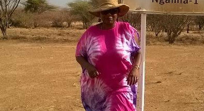 Nominated MP Jeniffer Shamalla during a past visit to Turkana County (Twitter)