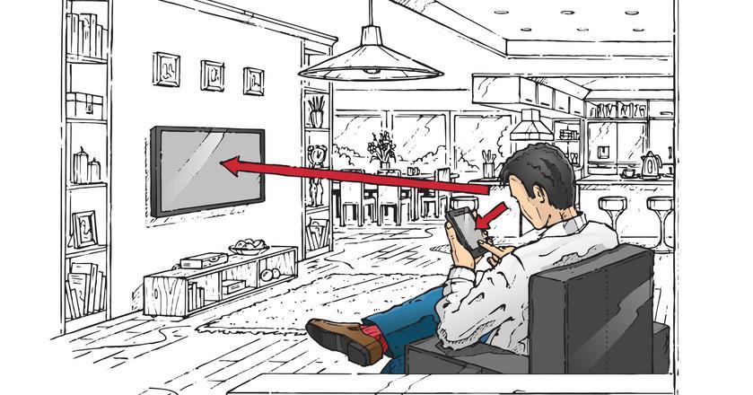 Coraz częściej oglądając telewizję jednocześnie korzystamy ze smartfona