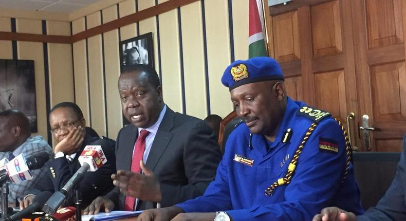 Police to arrest 4293 gun owners who did not meet CS Fred Matiang'i 1-week ultimatum