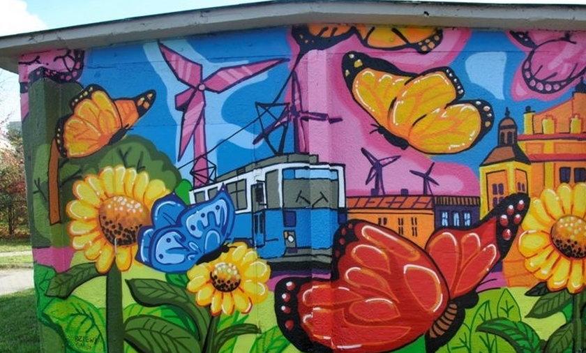 Kolorowe murale w Krakowie