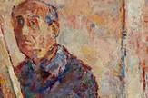 Marko Celebonovic Autoportret u ogledalu za stafelajem 1969 92x73cm