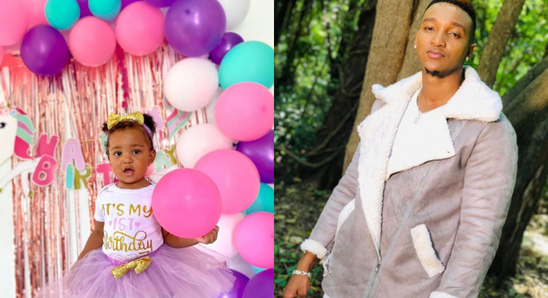 Brown Mauzo introduces his daughter to the world as she turns 1 (Photos)