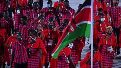 Team Kenya dazzles at the Olympics Opening Ceremony [Pictures]