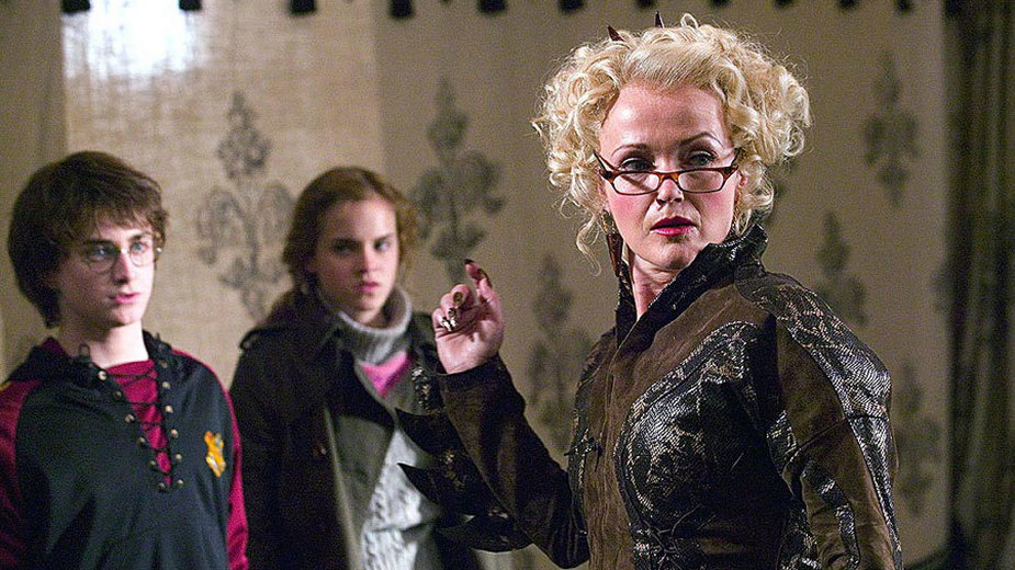 "Miranda Richardson jako Rita Skeeter w filmie ""Harry Potter i Czara Ognia"""
