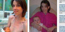 Omal nie zagłodziła siebie i dziecka, gdy była w ciąży!