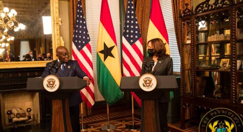 President Akufo-Addo and Vice President of the United States of America, Kamala Harris