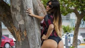 Piękna Włoszka kibicuje AC Milan