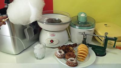 Abgefahrene Food-Gadgets für zu Hause: Donuts, Eis, Hotdogs, Popcorn und Zuckerwatte