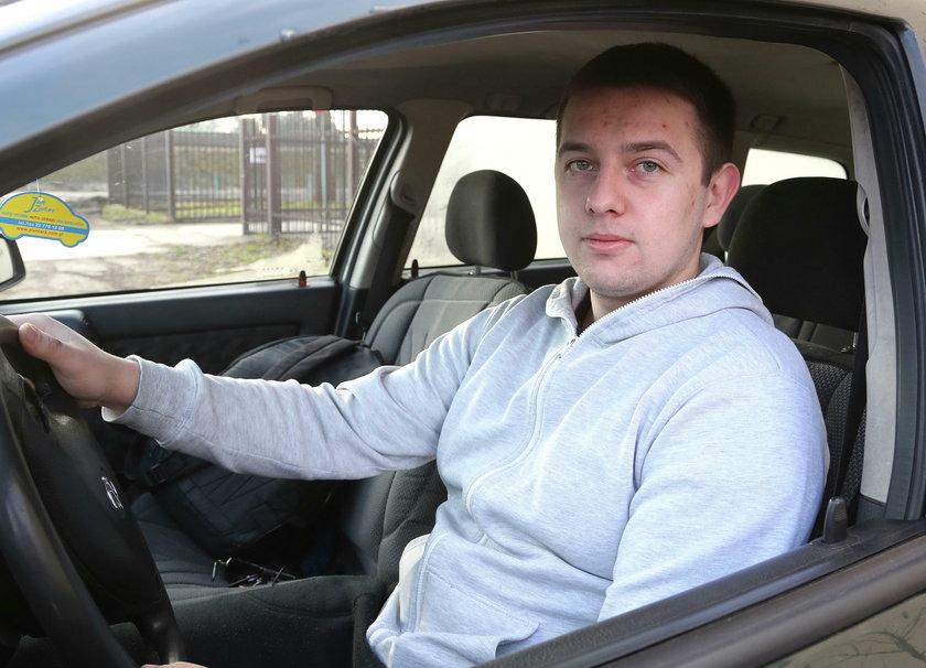 Robert Gazek (19 l.), kierowca