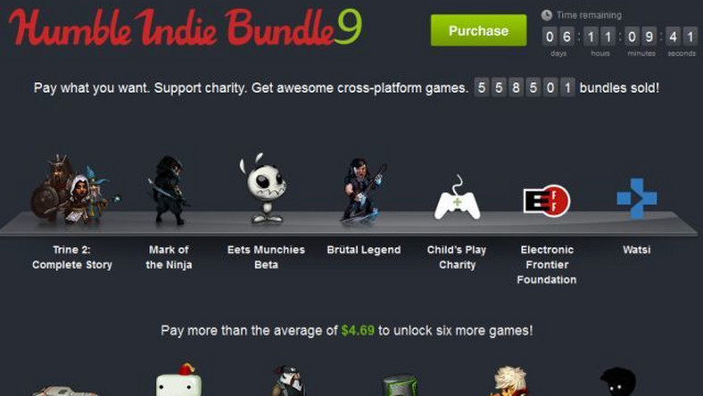 Humble Indie Bundle 9 powiększyło się o Limbo, Bastion, Rocketbirds: Hardboiled Chicken i A Virus Named TOM