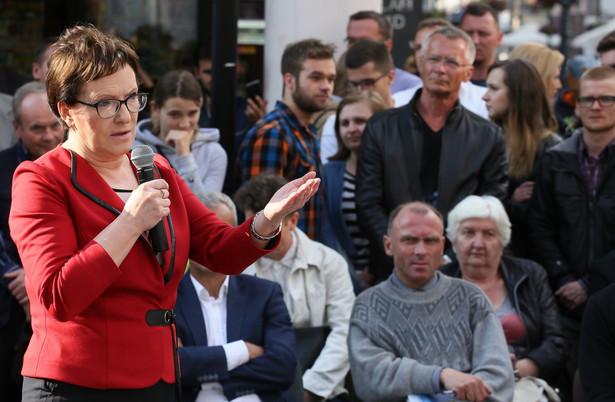 O konkretne miejsce gdzie będzie walczyła o głosy wyborców Ewa Kopacz została zapytana przez dziennikarzy w Łodzi