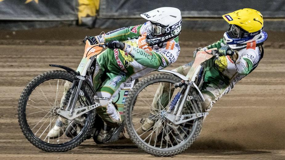 Jason Doyle i Leon Madsen