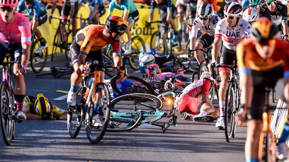 Wypadek na mecie Tour De Pologne