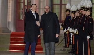 Mateusz Morawiecki spotkał się z Fransem Timmermansem