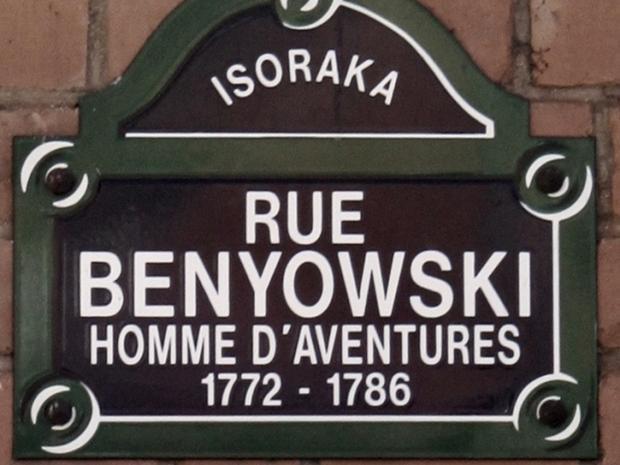 Tablica upamiętniająca Maurycego Beniowskiego w Antananarywie