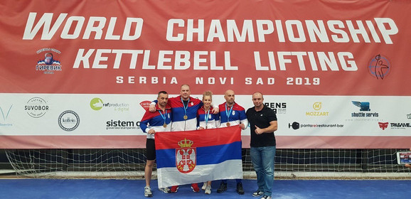 Reprezentativci Srbije ovenčani medaljama na  ''World Championship Kettlbell lifting''