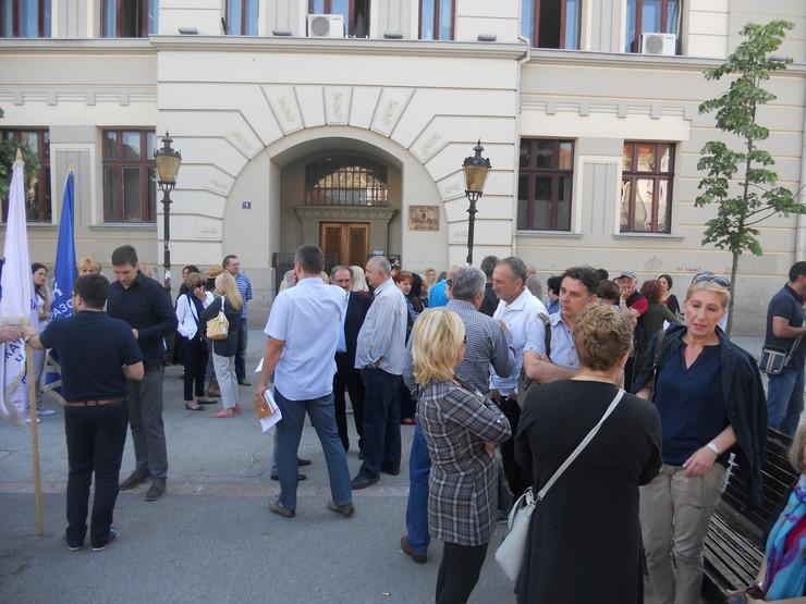 ČAČAK - Protest profesora srednjih škola  u maju 2016.