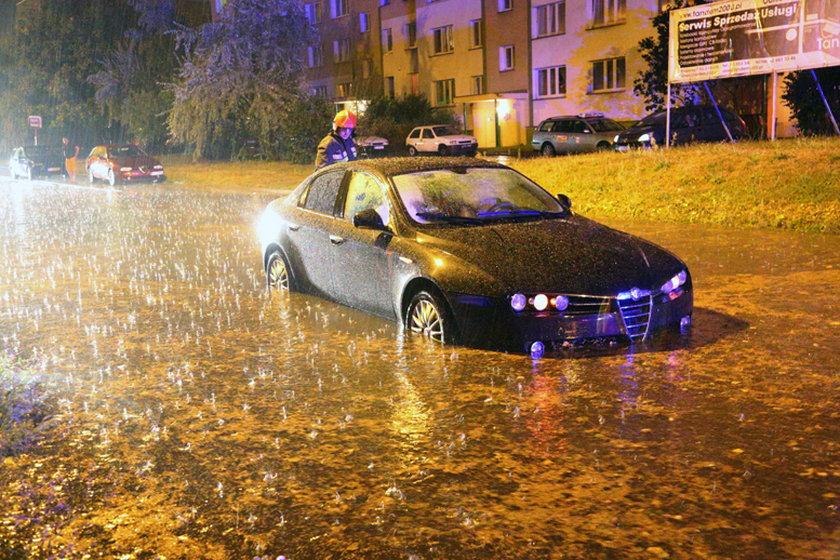 Niektóre fragmenty trasy W-Z również zostały zalane