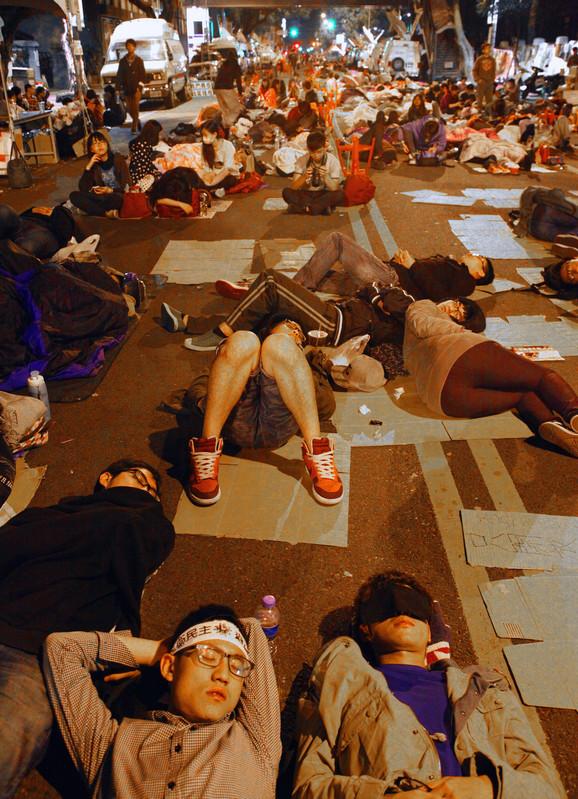 Tajvan, studentski protest