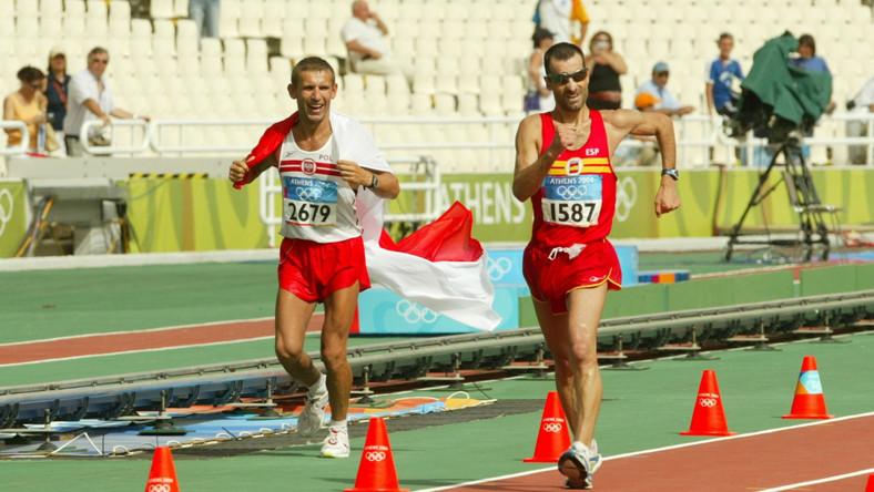 Igrzyska olimpijskie w Atenach, 2004 rok. Jesus Angel Garcia i Robert Korzeniowski