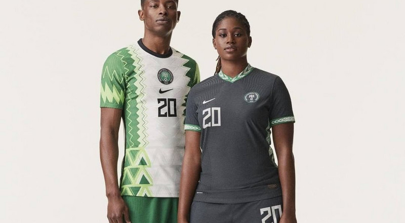 Pulse Exclusive: NFF presents new Super Eagles Nike jerseys to President Buhari