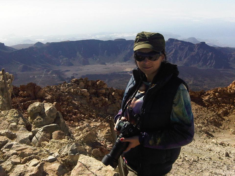 Kat Piwecka, autorka zdjęć na szczycie Pico del Teide - 3718 m