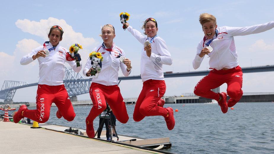 Polskie wioślarki cieszą się ze srebra w Tokio