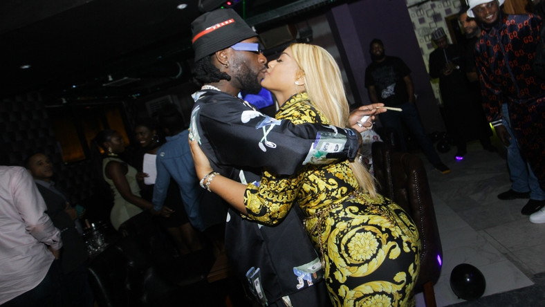 Burna Boy and bae, Stefflon Don all loved up at his 28th birthday party [BukiHQ]