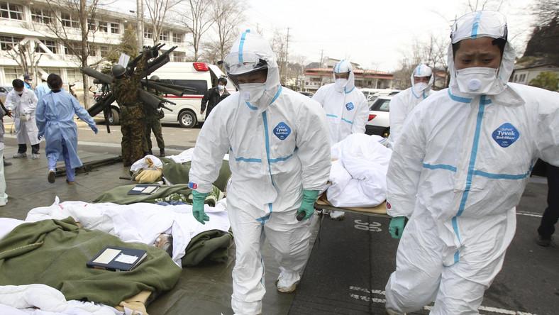Akcja ratunkowa w mieście Nihonmatsu w prefekturze Fukushima