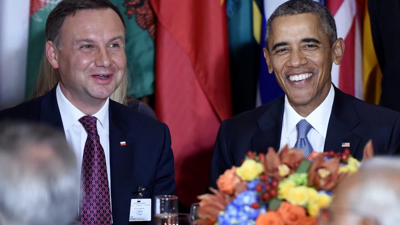 Andrzej Duda i Barack Obama przy jednym stole na kolacji zorganizowanej przez ON